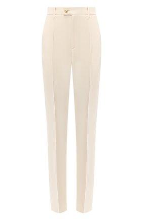 Женские брюки из шелка и шерсти GUCCI белого цвета, арт. 627880/ZAD88 | Фото 1