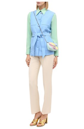 Женские брюки из шелка и шерсти GUCCI белого цвета, арт. 627880/ZAD88 | Фото 2