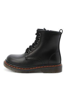 Детские кожаные ботинки GALLUCCI черного цвета, арт. J01518AM/TR P L G0M VIT   Фото 2