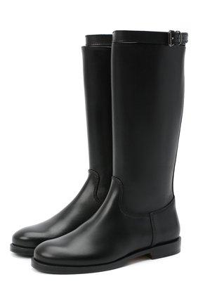 Детские кожаные сапоги GALLUCCI черного цвета, арт. J05065AM/ST P V CUG VSA | Фото 1 (Материал внутренний: Натуральная кожа)
