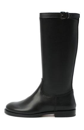 Детские кожаные сапоги GALLUCCI черного цвета, арт. J05065AM/ST P V CUG VSA | Фото 2 (Материал внутренний: Натуральная кожа)