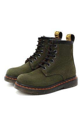 Детские кожаные ботинки GALLUCCI хаки цвета, арт. J30067AM/TR P V G0M NAB | Фото 1 (Материал внутренний: Натуральная кожа)