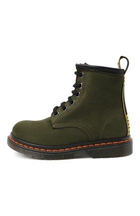 Детские кожаные ботинки GALLUCCI хаки цвета, арт. J30067AM/TR P V G0M NAB | Фото 2 (Материал внутренний: Натуральная кожа)
