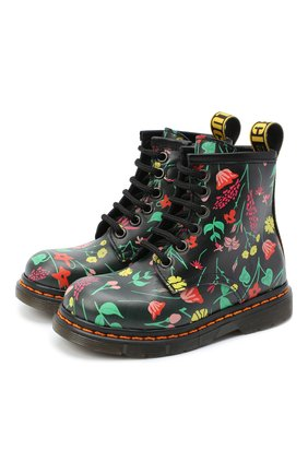 Детские кожаные ботинки GALLUCCI черного цвета, арт. J30067AM/TR P V G0M VFW | Фото 1