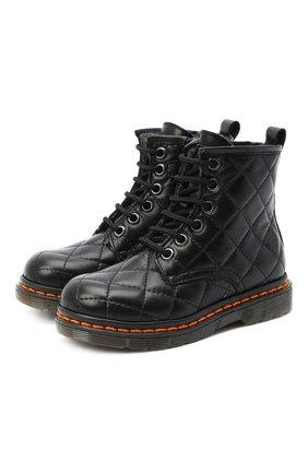 Детские кожаные ботинки GALLUCCI черного цвета, арт. J30083HM/TR P L G0M N0P | Фото 1