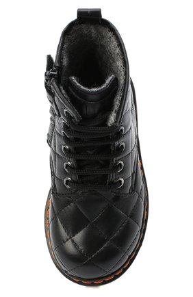 Детские кожаные ботинки GALLUCCI черного цвета, арт. J30083HM/TR P L G0M N0P   Фото 4 (Материал утеплителя: Шерсть)