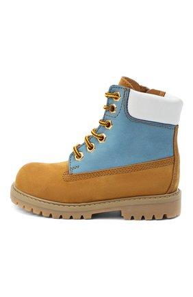 Детские кожаные ботинки GALLUCCI коричневого цвета, арт. J30093HM/TR P V G0M NAB/NAB/NAB   Фото 2