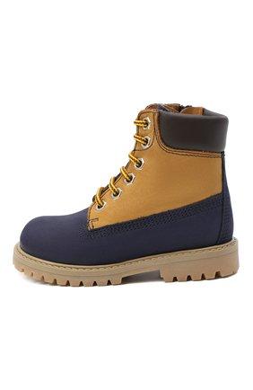 Детские кожаные ботинки GALLUCCI темно-синего цвета, арт. J30093HM/TR P V G0M NAB/NAB/NAB | Фото 2