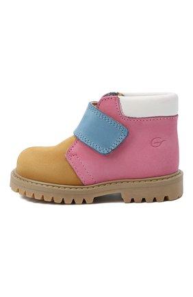 Детские кожаные ботинки GALLUCCI коричневого цвета, арт. T00234CM/SC P L G0M NAB/NAB/NAB   Фото 2