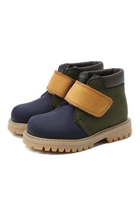 Детские кожаные ботинки GALLUCCI синего цвета, арт. T00234CM/SC P L G0M NAB/NAB/NAB | Фото 1