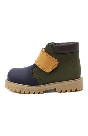 Детские кожаные ботинки GALLUCCI синего цвета, арт. T00234CM/SC P L G0M NAB/NAB/NAB | Фото 2