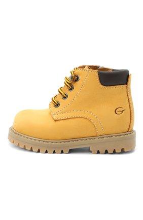 Детские кожаные ботинки GALLUCCI коричневого цвета, арт. T20085AM/SC P V G0M NAB/VIT   Фото 2
