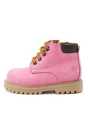 Детские кожаные ботинки GALLUCCI розового цвета, арт. T20085AM/SC P V G0M NAB/VIT   Фото 2