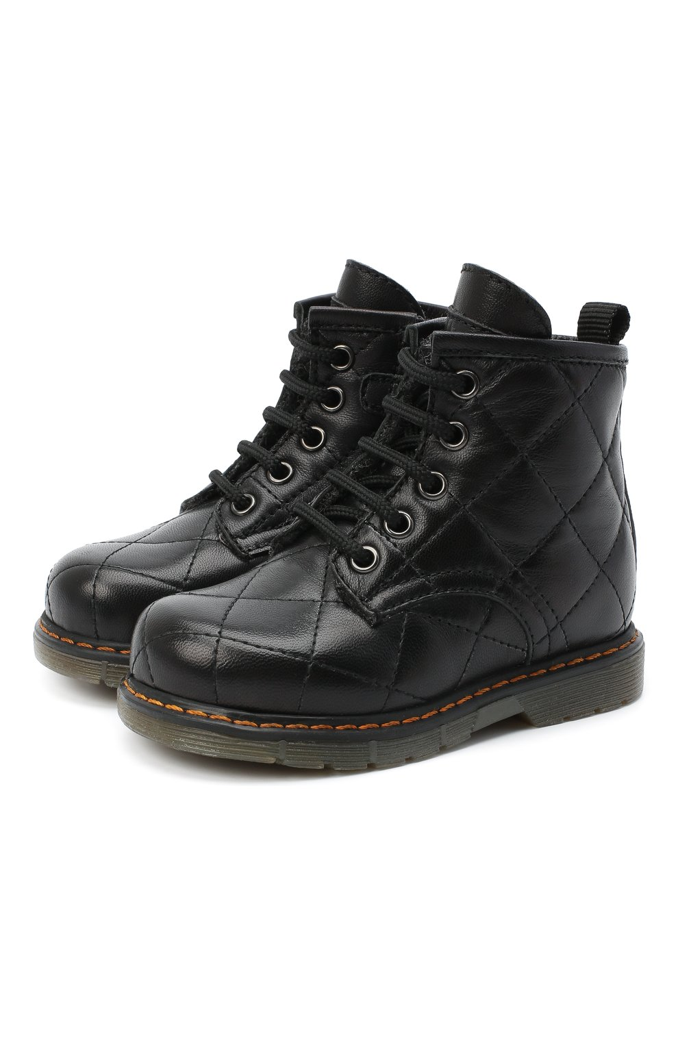 Детские кожаные ботинки GALLUCCI черного цвета, арт. T30016AM/TR P L G0M N0P   Фото 1 (Материал утеплителя: Шерсть)