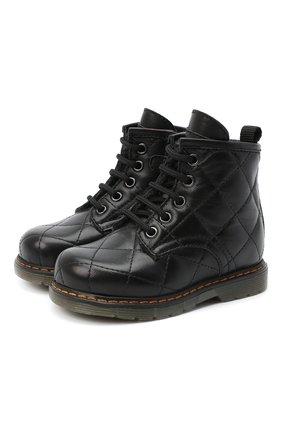 Детские кожаные ботинки GALLUCCI черного цвета, арт. T30016AM/TR P L G0M N0P | Фото 1