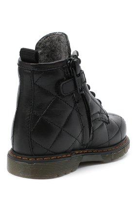 Детские кожаные ботинки GALLUCCI черного цвета, арт. T30016AM/TR P L G0M N0P   Фото 3 (Материал утеплителя: Шерсть)