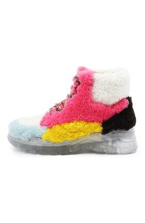 Детские меховые ботинки GALLUCCI разноцветного цвета, арт. J20211AM/SC P V G0M MCU/MCU/MCU 1 | Фото 2