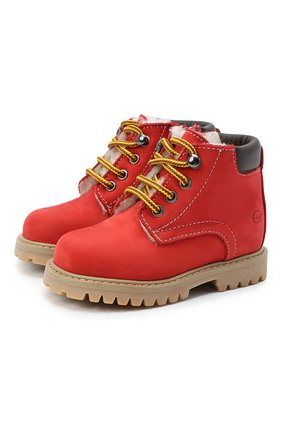 Детские кожаные ботинки GALLUCCI красного цвета, арт. T20085BM/SC S S G0M NAB/VIT | Фото 1