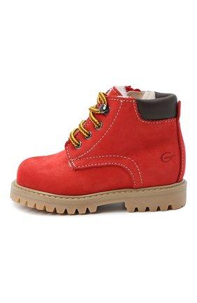Детские кожаные ботинки GALLUCCI красного цвета, арт. T20085BM/SC S S G0M NAB/VIT | Фото 2