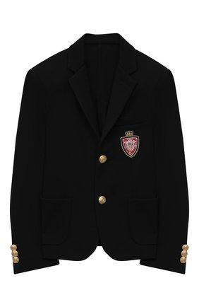 Детский пиджак DAL LAGO черного цвета, арт. N035/8111/7-12 | Фото 1