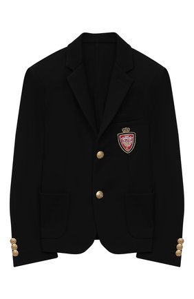 Детский пиджак DAL LAGO черного цвета, арт. N035/8111/13-16 | Фото 1
