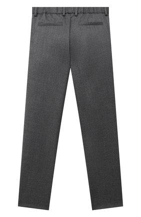 Детские шерстяные брюки LORO PIANA серого цвета, арт. FAL2703 | Фото 2
