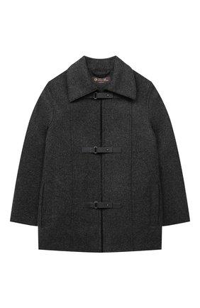Детское кашемировое пальто LORO PIANA темно-серого цвета, арт. FAL3155 | Фото 1