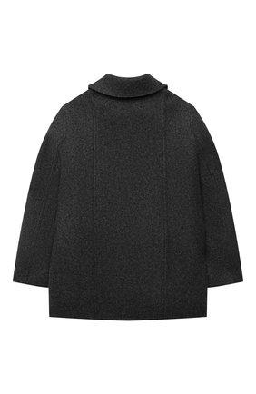 Детское кашемировое пальто LORO PIANA темно-серого цвета, арт. FAL3155 | Фото 2