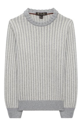 Детский пуловер из шелка и кашемира LORO PIANA серого цвета, арт. FAL2589 | Фото 1