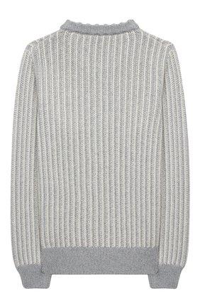 Детский пуловер из шелка и кашемира LORO PIANA серого цвета, арт. FAL2589 | Фото 2