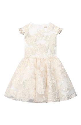 Детское платье DAVID CHARLES золотого цвета, арт. 5117 | Фото 1