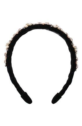 Детского ободок DAVID CHARLES черного цвета, арт. 5720 | Фото 1