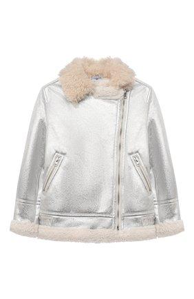 Детская куртка MONNALISA серебряного цвета, арт. 176106   Фото 1