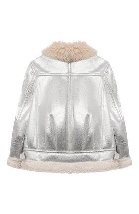 Детская куртка MONNALISA серебряного цвета, арт. 176106   Фото 2