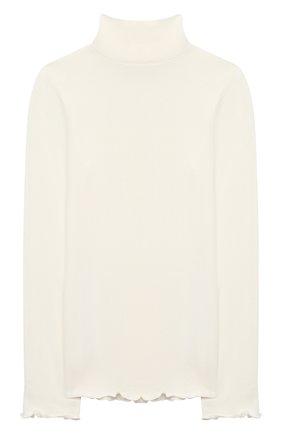 Детская водолазка MONNALISA белого цвета, арт. 176LUC | Фото 2