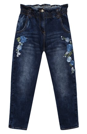 Детские джинсы MONNALISA синего цвета, арт. 196401R4 | Фото 1