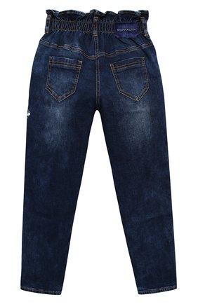 Детские джинсы MONNALISA синего цвета, арт. 196401R4   Фото 2