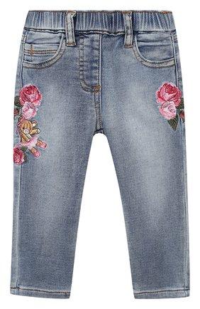 Детские джинсы MONNALISA синего цвета, арт. 396401R6 | Фото 1