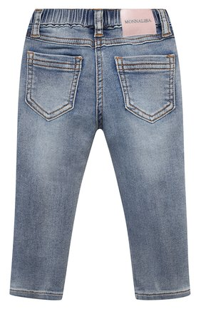 Детские джинсы MONNALISA синего цвета, арт. 396401R6 | Фото 2