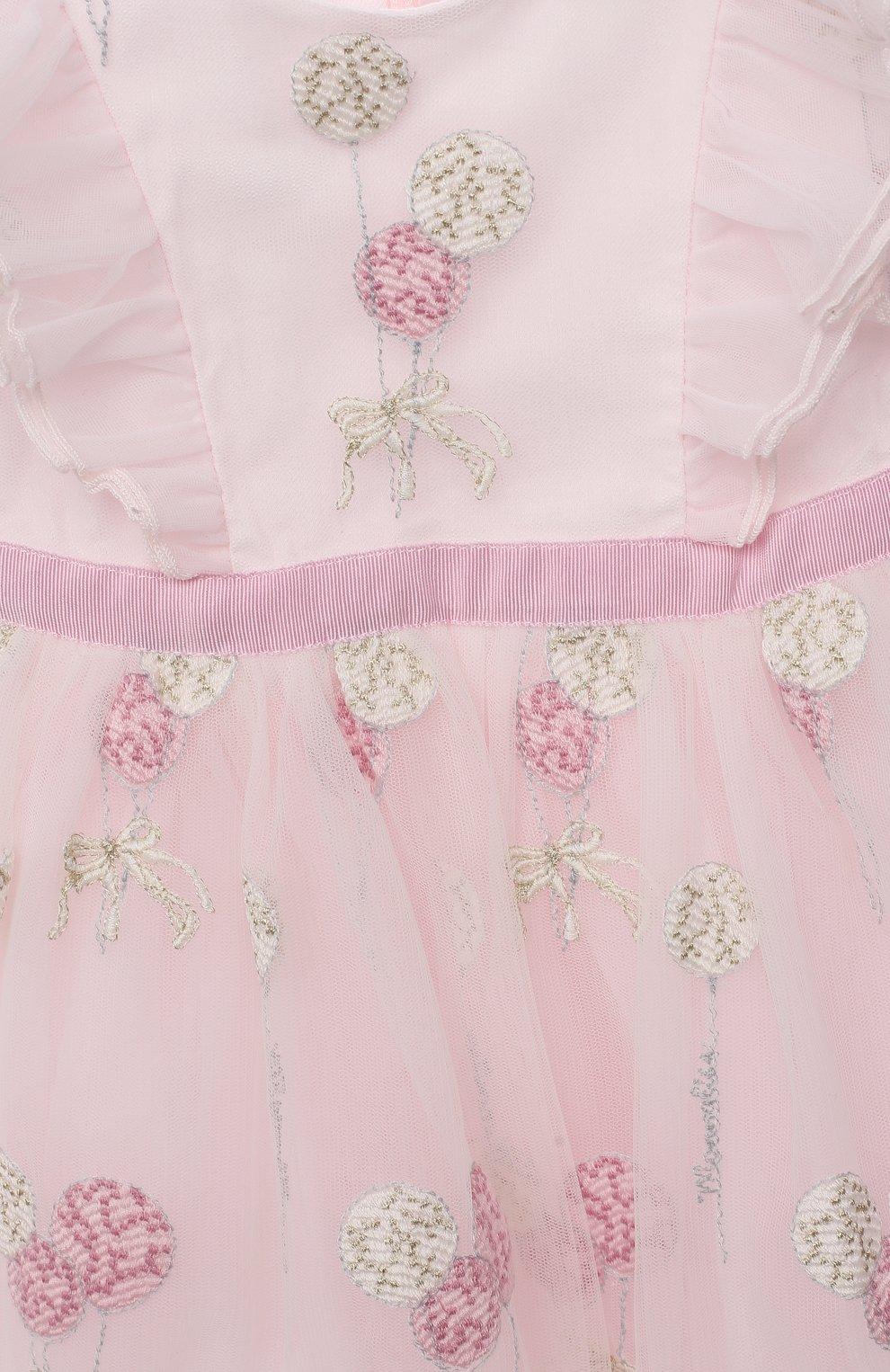 Женский платье MONNALISA розового цвета, арт. 316907 | Фото 3