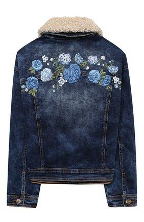 Детская джинсовая куртка MONNALISA синего цвета, арт. 196101R4   Фото 2