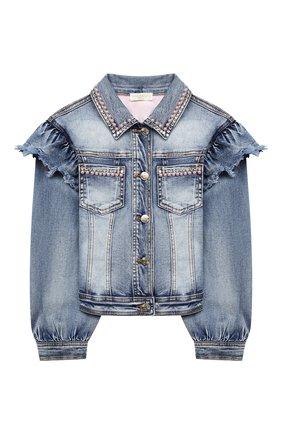Детская джинсовая куртка MONNALISA голубого цвета, арт. 796103AA   Фото 1