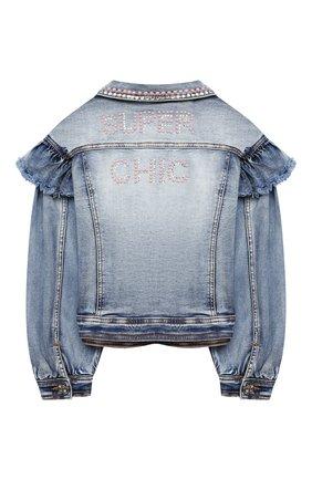 Детская джинсовая куртка MONNALISA голубого цвета, арт. 796103AA | Фото 2