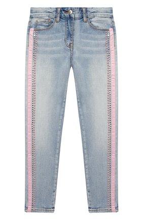 Детские джинсы MONNALISA синего цвета, арт. 796400AA   Фото 1
