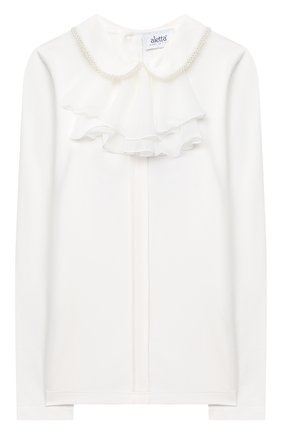 Детское блузка ALETTA бежевого цвета, арт. AJ000468ML/4A-8A | Фото 1