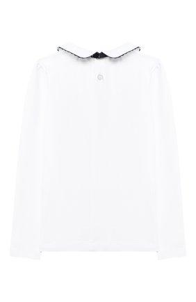 Детское хлопковая блузка ALETTA белого цвета, арт. AJ000457ML/4A-8A | Фото 2