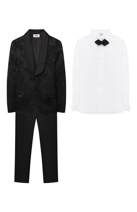 Детский костюм с рубашкой ALETTA черного цвета, арт. N628-29-22-31/9A-16A | Фото 1