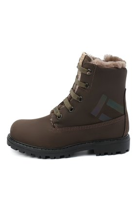 Детские кожаные ботинки RONDINELLA коричневого цвета, арт. 11200-3/634/24-27 | Фото 2