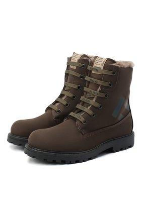 Детские кожаные ботинки RONDINELLA коричневого цвета, арт. 11200-3/634/31-33 | Фото 1