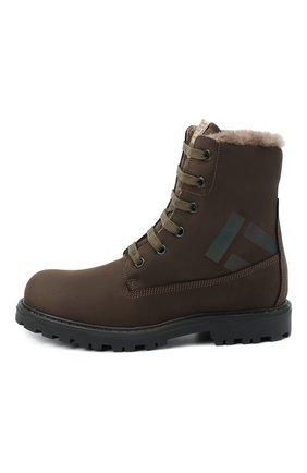 Детские кожаные ботинки RONDINELLA коричневого цвета, арт. 11200-3/634/31-33 | Фото 2